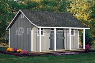 Shed Designs With Porch by 14 X 16 Cape Code Storage Shed With Porch Plans P81416