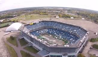 What Happened To The Pontiac Silverdome Drone Captures Detroit S Silverdome Stadium Where Fans