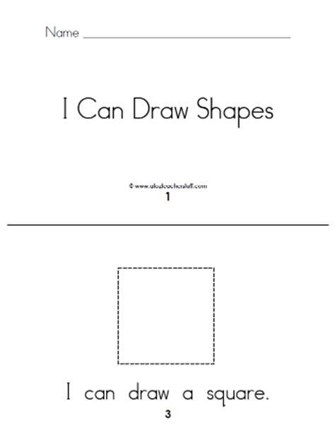printable shapes book for preschool i can draw shapes printable book a to z teacher stuff