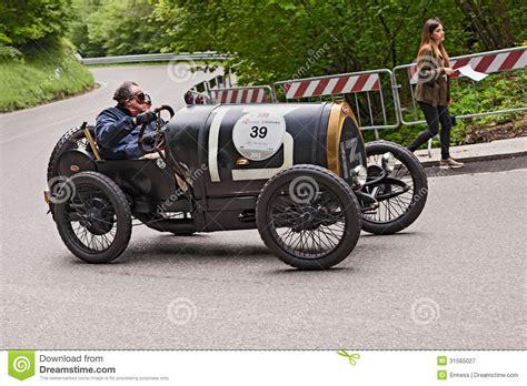 vintage bugatti race car bugatti t 13 in rally mille miglia 2013 editorial