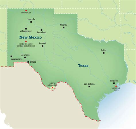 map of texas new mexico map of texas and new mexico mexico map