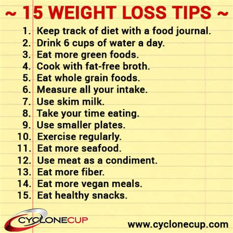 7 weight loss tips 15 simple weight loss tips fitness tips