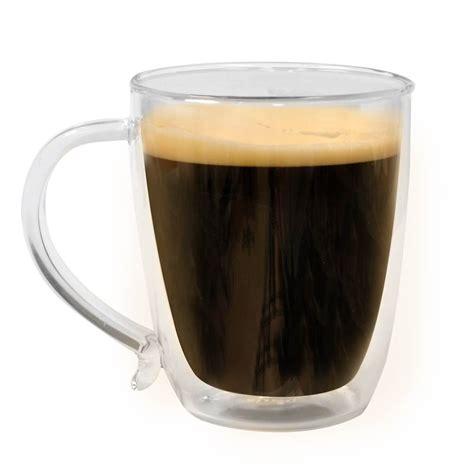 Coffee Glass wall borocilicate 16 ounce glass coffee mug set of 2