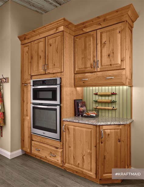 black rustic kitchen cabinets by kraftmaid kitchen kraftmaid rustic alder kitchen cabinetry in natural