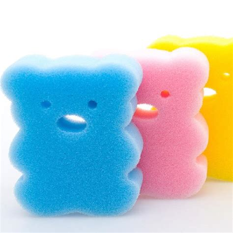 baby bathtub sponge newborn baby bathtub care sponge shower bath brushes back
