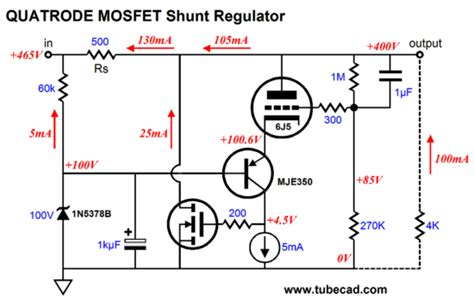 high power transistor voltage regulator quatrode