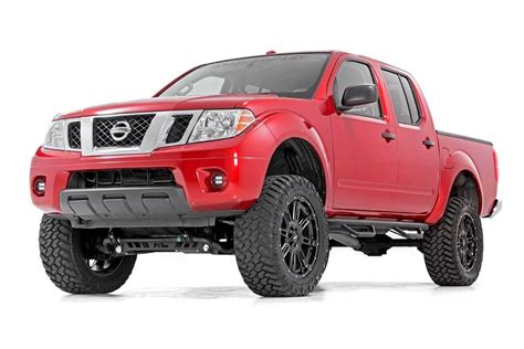 red nissan frontier lifted 6in suspension lift kit for 2005 2018 4wd 2wd nissan