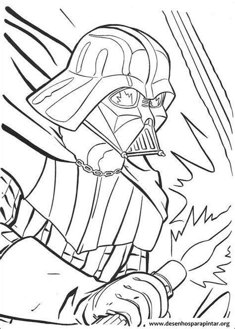 Desenhos para pintar e colorir do Star Wars – Guerra nas