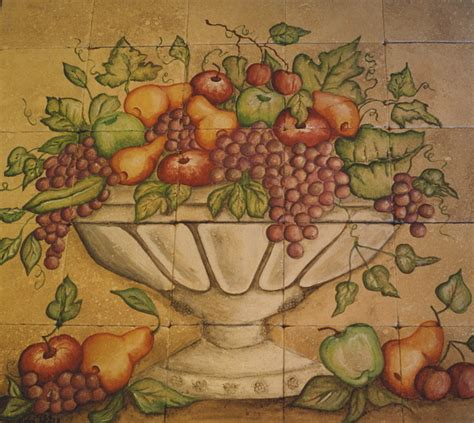 kitchen tiles with fruit design kitchen fruit mural eclectic tile san diego by