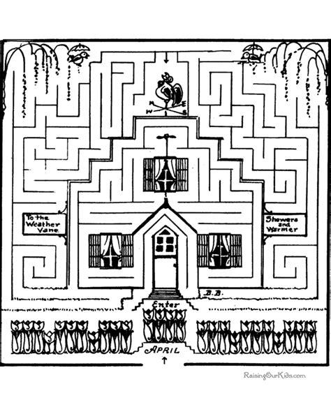 printable maze games maze games