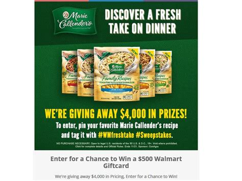 ten fresh takes books callender s discover a fresh take on dinner sweepstakes