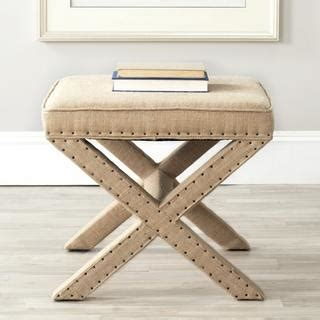 overstock x bench safavieh palmer x bench nailhead beige ottoman overstock com