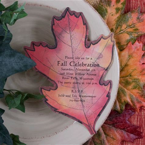 Leaf Themed Wedding Invitations by It S All In The Invitation Celebrate The Turning Of The