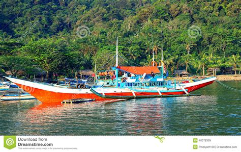 fishing boat business philippines fishing boats in the philippines stock photo image 40079359