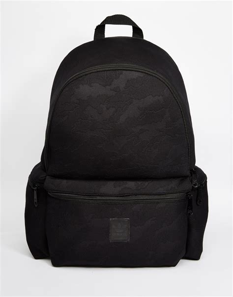 Bottle Bag Adidas Black lyst adidas originals backpack in camo in black for