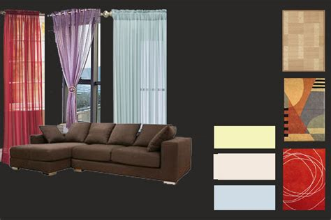 what color walls curtains and carpets blend with brown furniture