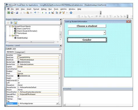 Spreadsheet Functions by Using Excel Worksheet Functions In Vba
