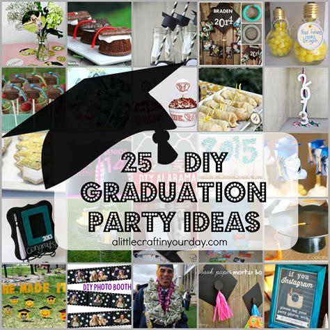 graduation decorating ideas home 25 diy graduation party ideas a little craft in your day