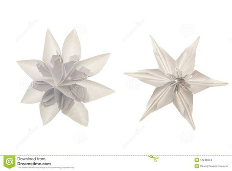 Origami White Paper - origami white snowflakes stock images image 12248344