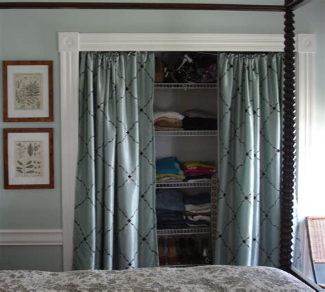Closet Door Curtains with This Is How It Goes Using Curtains For Closet Doors