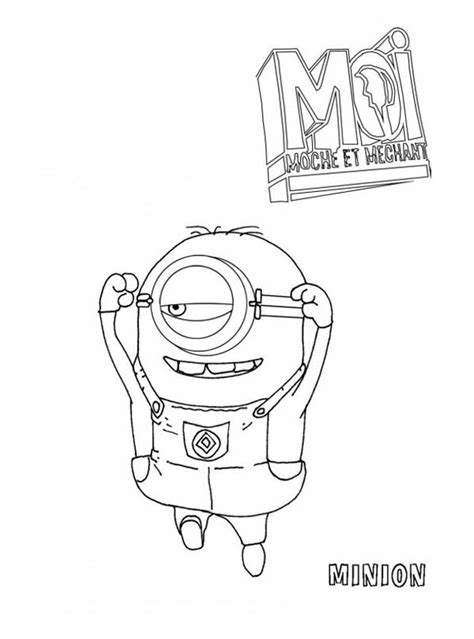 picture  jumping minion  despicable  coloring page