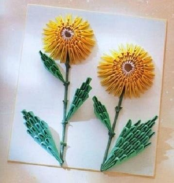 3d Origami Sunflower - discover and save creative ideas