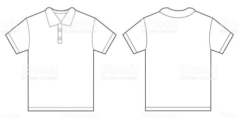 white polo shirt design template for men stock vector art