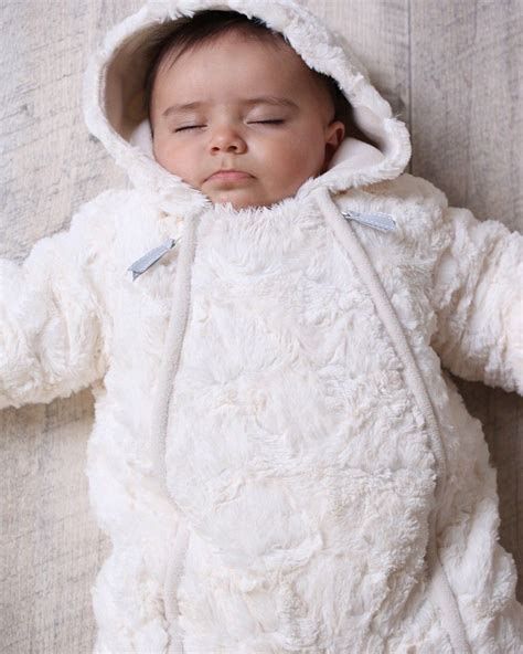 7 Snuggly Warm Winter Pajamas by Luxury Baby Unisex Fur Snowsuit Baby Prams Fur Babies