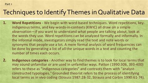 themes for qualitative research strategies on how to infer explain patterns and themes