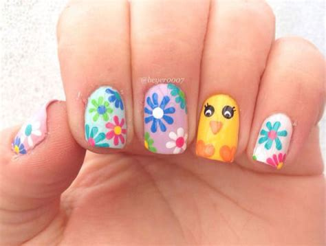 simple easy easter nails art designs ideas