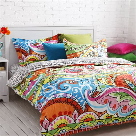 covers queen size 4pcs floral print bedding set duvet