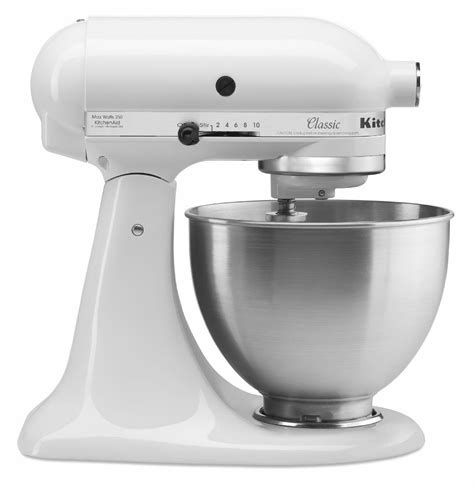 kitchen aid stand mixer new kitchenaid stand mixer 4 1 2 quart k45sswh all metal white tilt classic new 726670964243 ebay