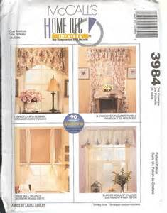 window treatment patterns oop mccalls sewing pattern window treatment curtains