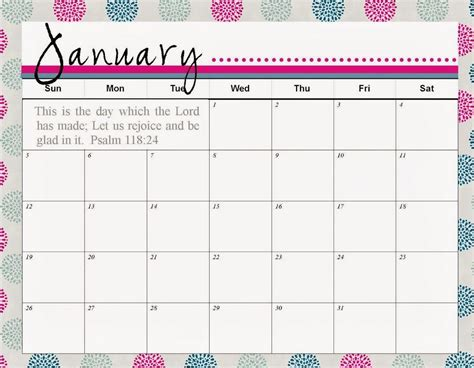 printable calendar cute 2018 cute printable calendar january 2018 yspages com