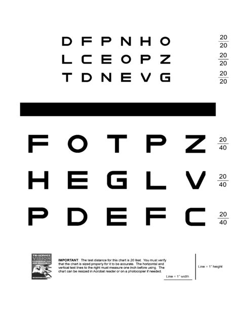 printable eye chart with instructions eye chart and size verification instructions free download