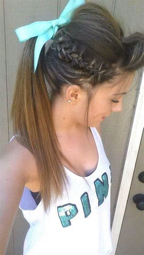 pictures of cheer hair styles pinterest