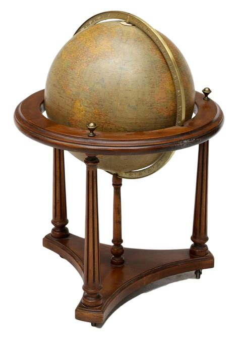 chicago stand replogle world globe chicago on wood stand mid summer spectacular estates auction