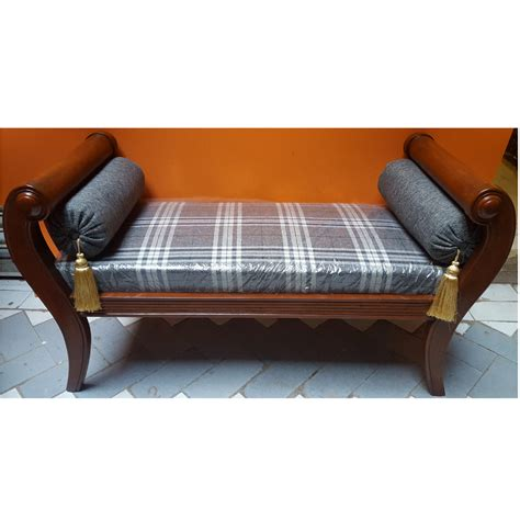 backless chaise sofa solid sheesham wood handcrafted backless inner arms chaise