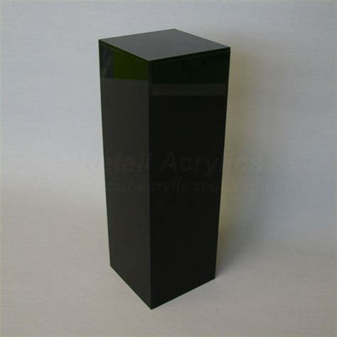 Display Pedestal 100cm Black Acrylic Display Pedestal Plinth
