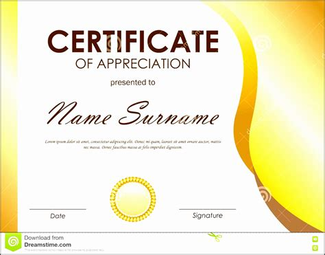 word template certificate of appreciation 8 easy to use certificate of appreciation template