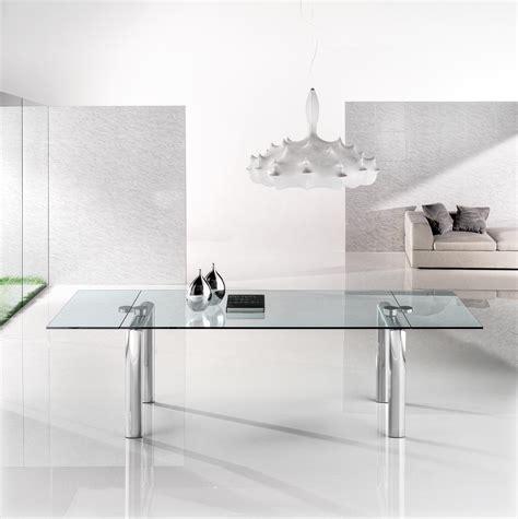 reflex tavoli in cristallo policleto allungabile tables de repas de reflex architonic