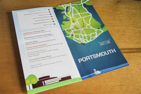leaflet design portsmouth portsmouth city museums events branding and leaflets