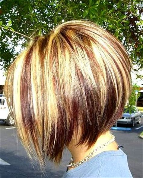 stacked bobs unique dye stacked bob hairstyle http www prettydesigns com bob