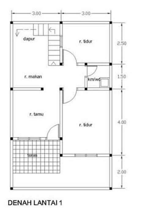 gambar desain rumah  lantai type  denah gambar ukuran   rebanas rebanas