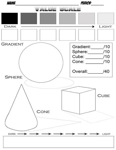 Drawing Printable Worksheets by 6 Best Images Of Value Scale Worksheet Printable Shading