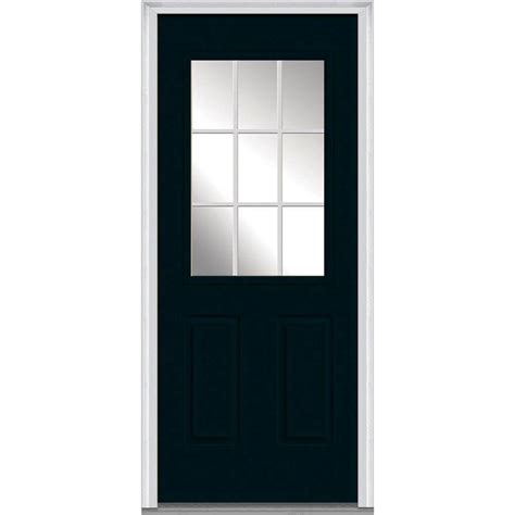 30 X 80 Exterior Door With Window Milliken Millwork 30 In X 80 In Grilles Between Glass Left 1 2 Lite 2 Panel Classic