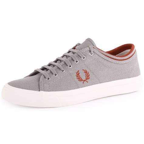 fred perry shoes fred perry kendrick b5210 mens canvas cloudburst trainers