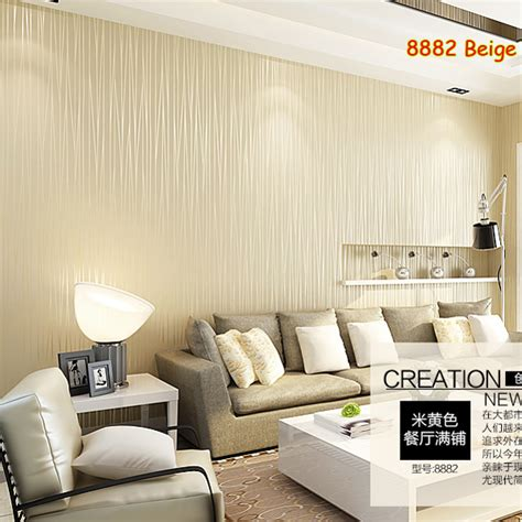 Living Room Wallpaper Buy Aliexpress Buy 1 Roll Beige Non Woven Fabric 3d