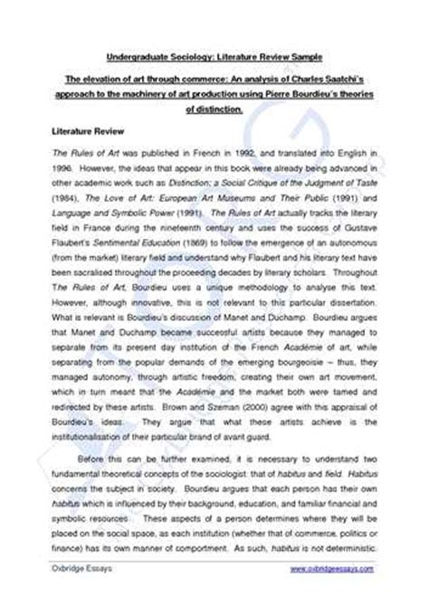 exle of a literature review for a research paper literature review research paper