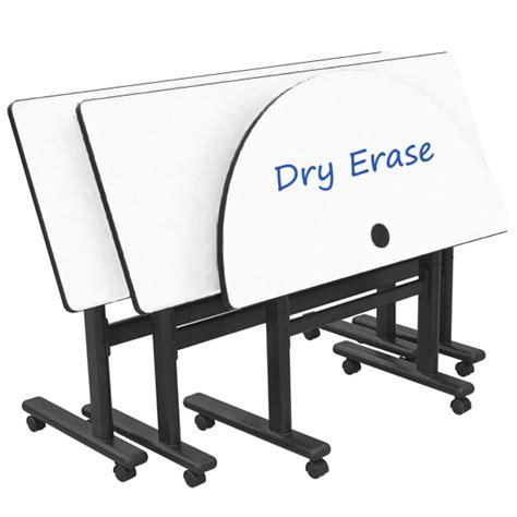 erase table balt erase adjustable height flipper table rectangle